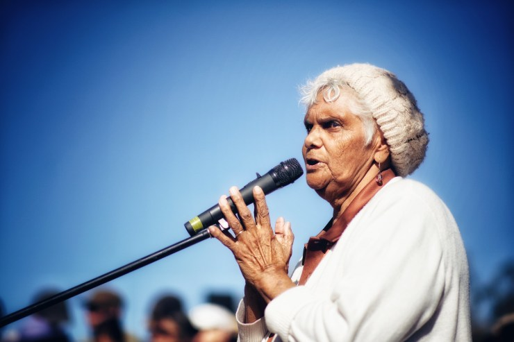 Aunt Sue Blacklock, descendent of the victims of the Myall Creek Massacre
