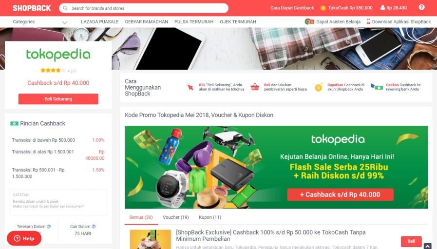 ShopBack Tokopedia   DarlaOct