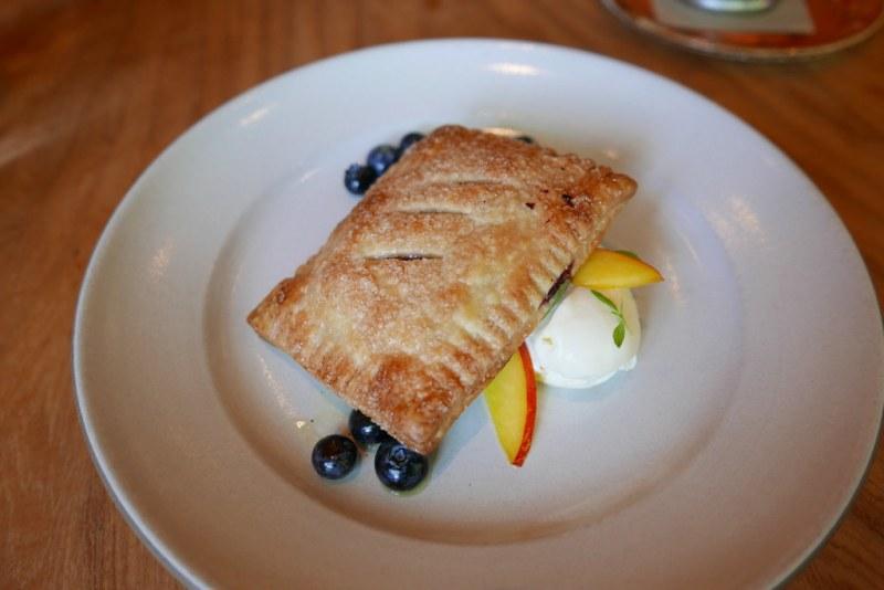 Italian 'Pop Tart, with blueberries, nectarines & honey mascarpone ($12)