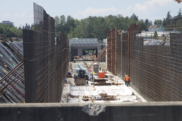 Spring District/120th Station construction