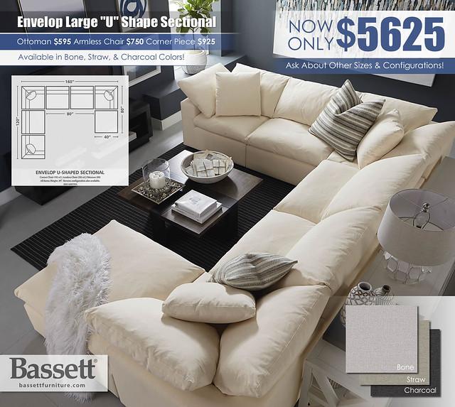 Bassett_Envelop_Large U Shape Alt View_2631-USECT7B-Envelop-SP16