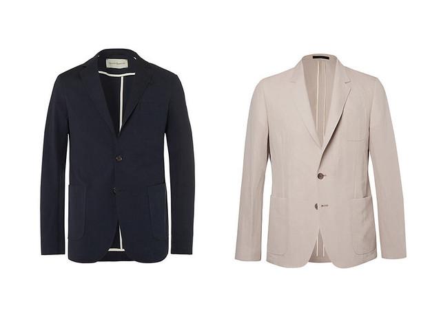 Dos blazer para hombre una azul marina y la otra beige para los looks smart- 18efe533498