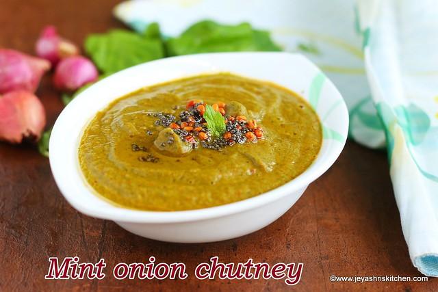 Mint-onion chutney