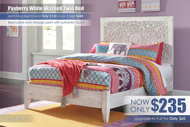 Pacberry Collection Twin Bed_B181-87-84