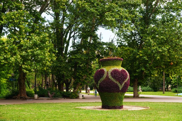 The flower vase in Mladezhki Park