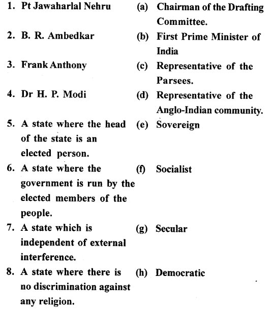 ICSE Solutions for Class 7 History and Civics - The Constitution of India-01
