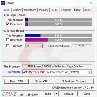 CPUz Ryzen 5 2400G 6 - OverCluster