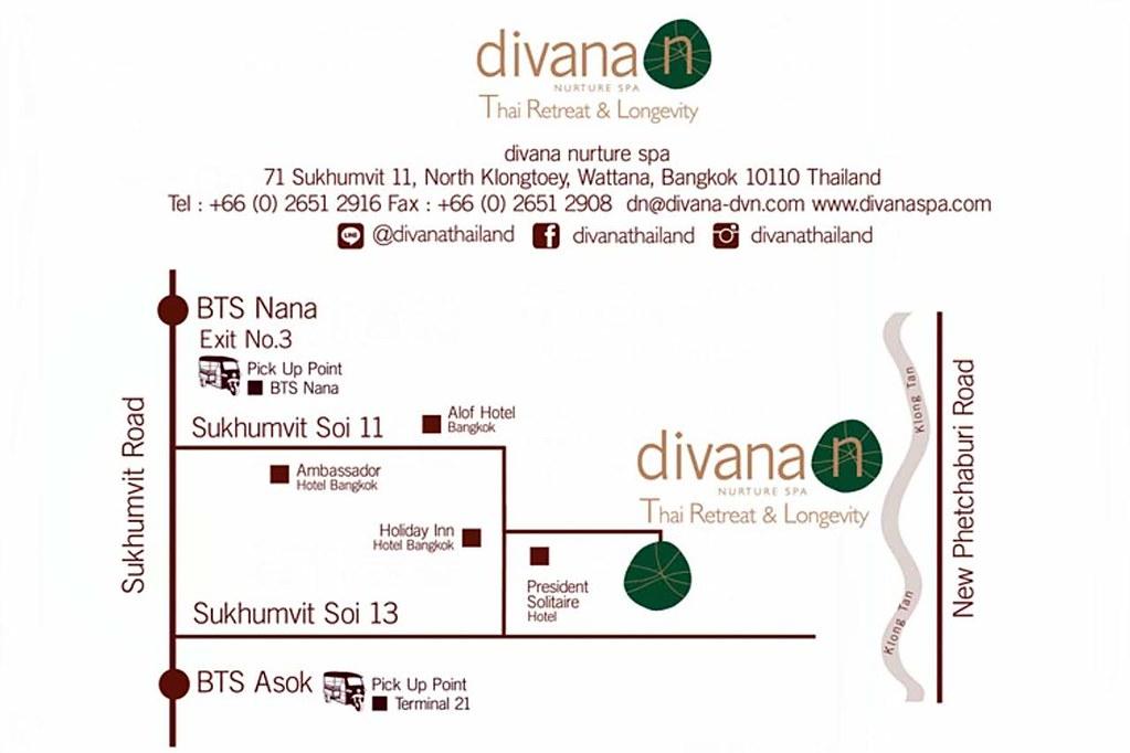 Divana Nurture Spa Map