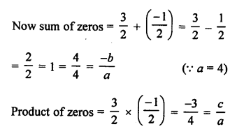 RS Aggarwal Class 10 Solutions Chapter 2 Polynomials