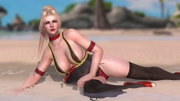 Dead or Alive 5 - Rachel on the Beach