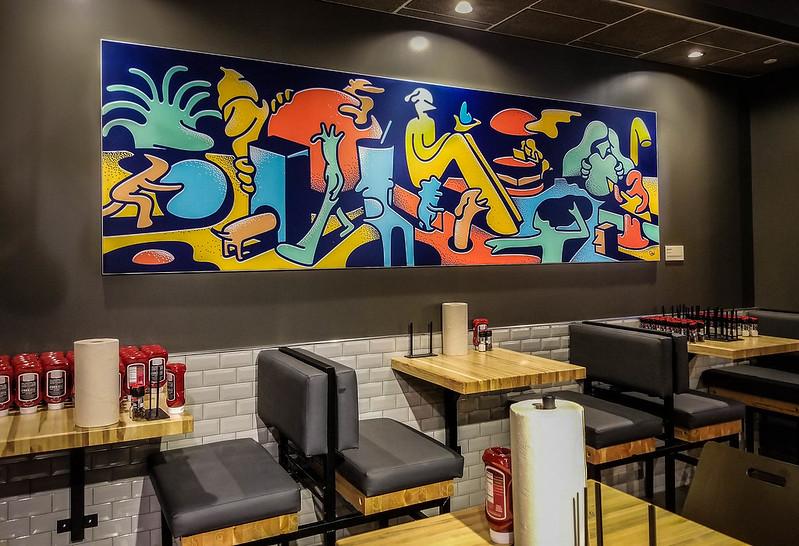 SEG Nonlit Fabric at Grub Burger Bar