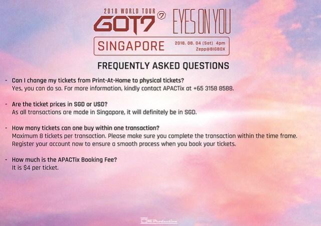 GOT7 'EYES ON YOU' WORLD TOUR IN SINGAPORE FAQ5