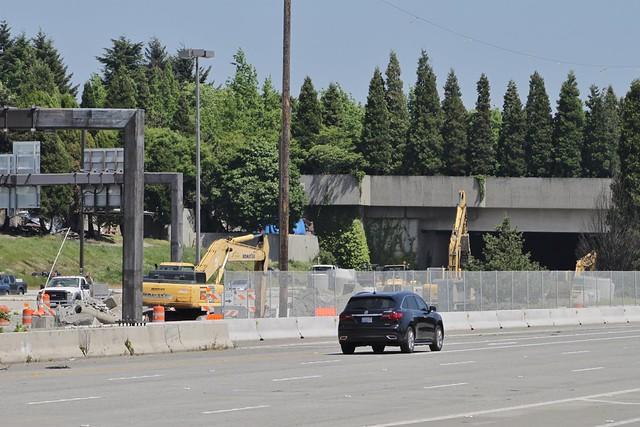 Judkins Park station construction, May 2018