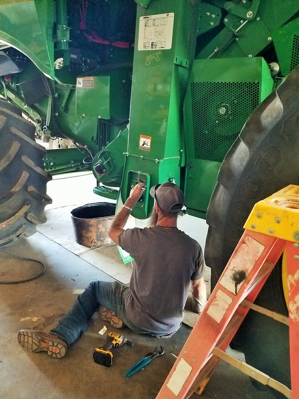 Jon doing some routine maintenance.