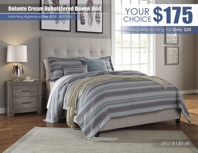 Dolante Cream Upholstered Queen Bed_B130-481-B070-92_SPECIAL