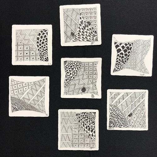 """""""Introduction to Zentangle"""" class tiles"""