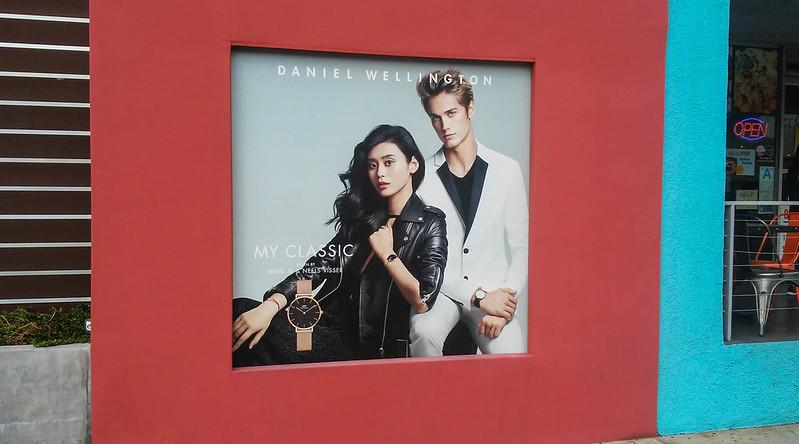 Daniel Wellington Adhesive Vinyl Window Display