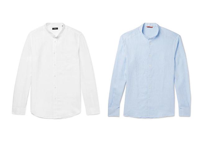 Camisa para hombre azul y blanca
