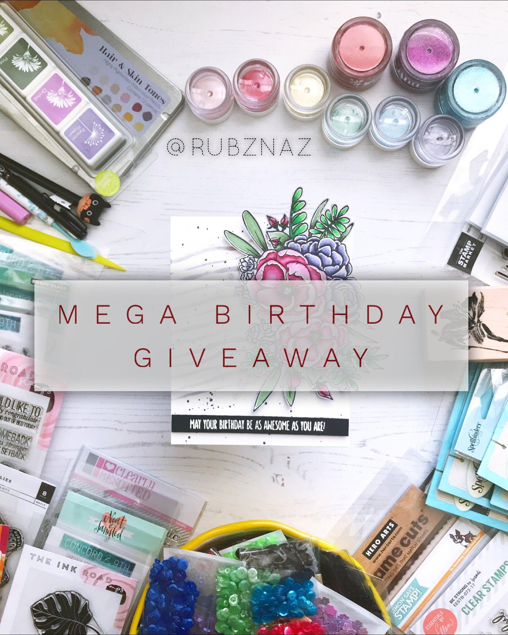 @rubznaz Mega Birthday Giveaway