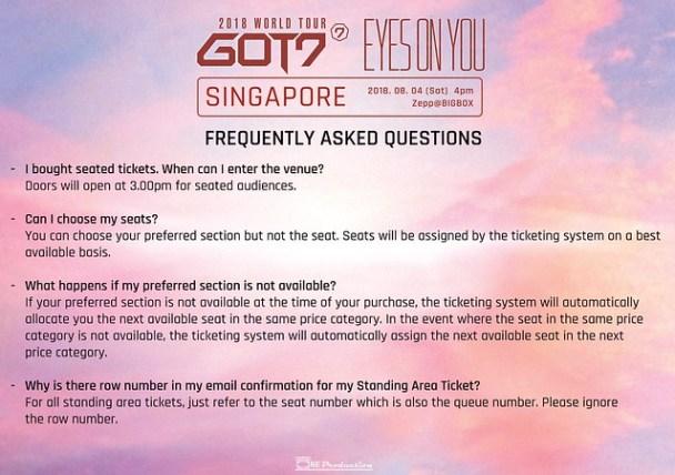 GOT7 'EYES ON YOU' WORLD TOUR IN SINGAPORE FAQ7