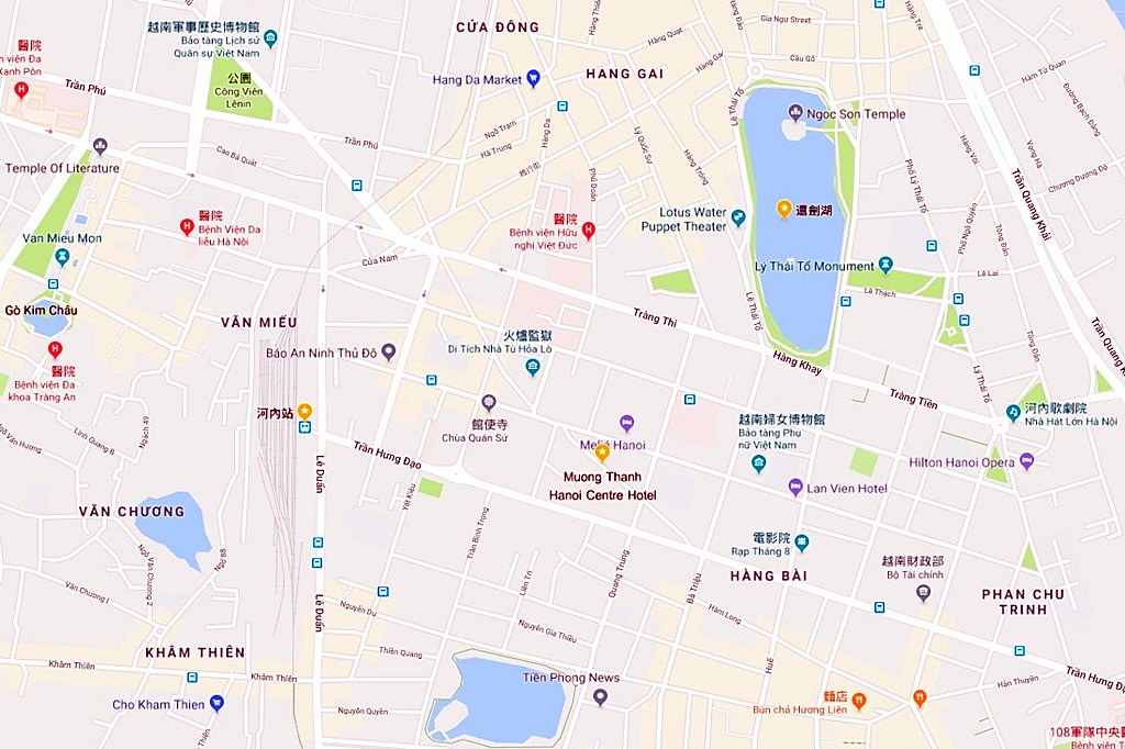 Muong Thanh Hanoi Centre Hotel Map