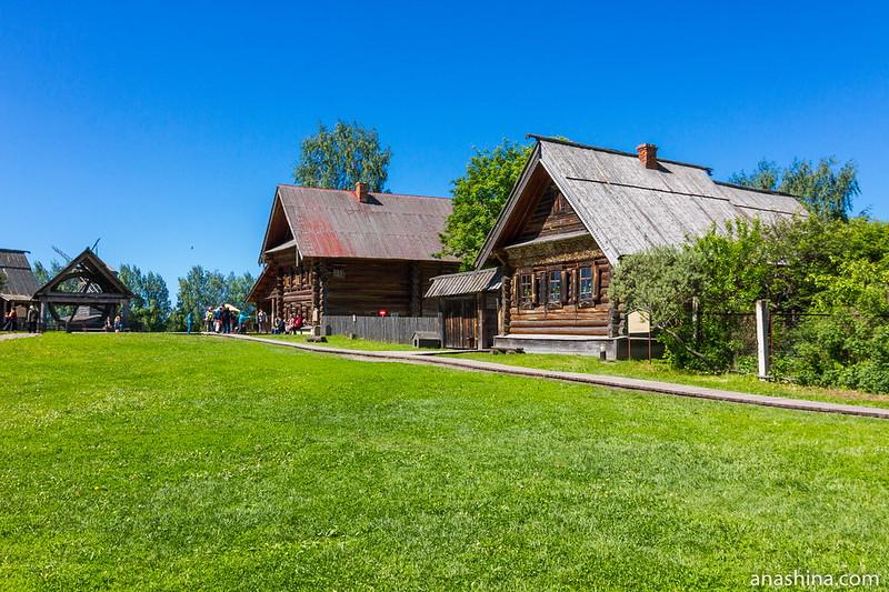 Деревенская улица, музей деревянного зодчества, Суздаль