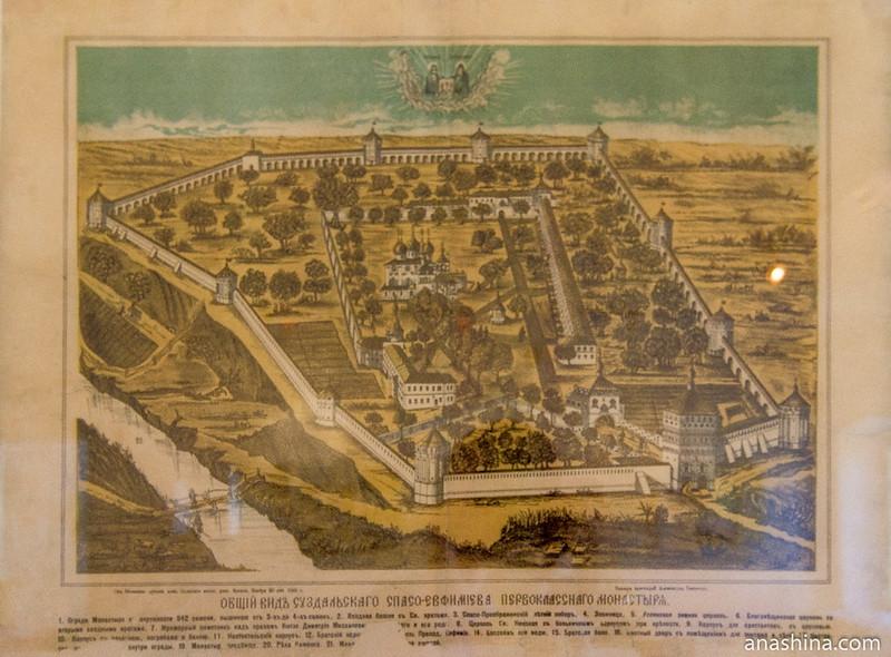 Общий вид Суздальского Спасо-Евфимиева первоклассного монастыря, XIX век