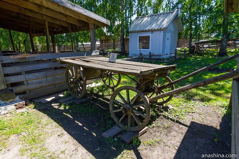 Телега, Музей деревянного зодчества, Суздаль