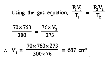 New Simplified Chemistry Class 9 ICSE Solutions - Study of The First Element - Study of Gas Laws 2.2