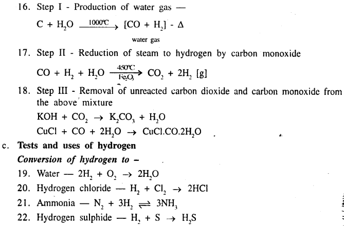 New Simplified Chemistry Class 9 ICSE Solutions - Study of The First Element - Hydrogen 4.2