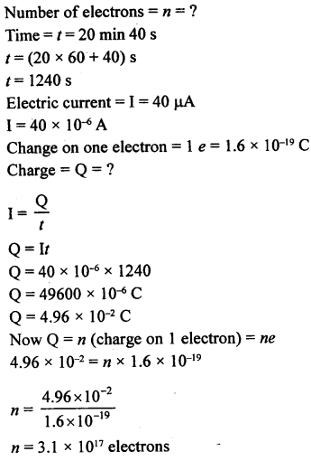 A New Approach to ICSE Physics Part 1 Class 9 Solutions Electricity and Magnetism - 1 14.1