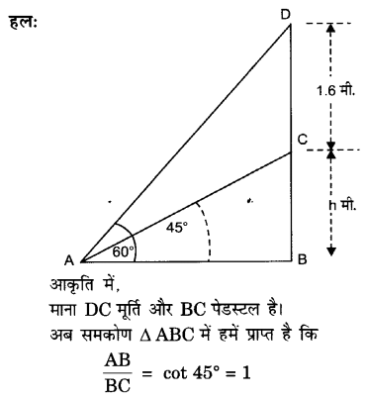 UP Board Solutions for Class 10 Maths Chapter 9 Some Applications of Trigonometry 8