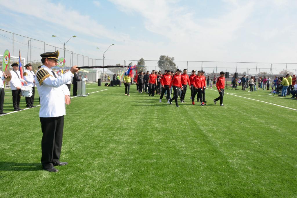 Inauguración canchas pasto sintético Estadio municipal Lo Blanco
