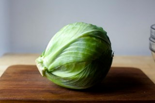 a tiny head of cabbage