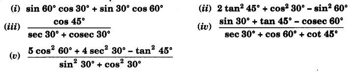 UP Board Solutions for Class 10 Maths Chapter 8 Introduction to Trigonometry page 206 1