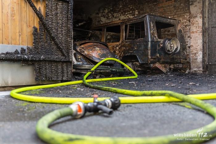 Garagenbrand Westend 12.08.18