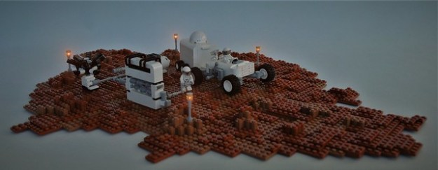 VIKING Rover on Mars - at the fueling-station