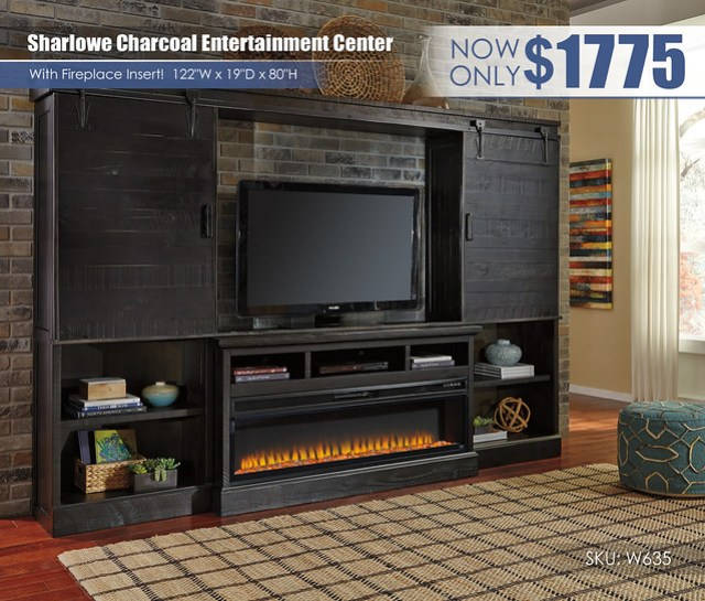 Sharlowe Charcoal Entertainment Center wFireplace_W635-30-134(2)-136-W100-22