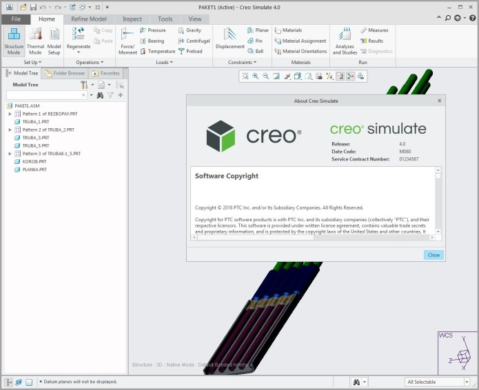 Working with PTC Creo simulate 4.0 M060 full cracked
