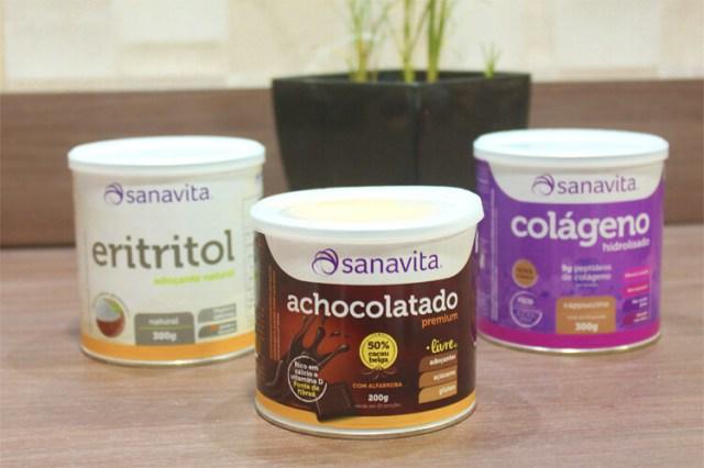 Sanavita Achocolatado, Cappuccino e Adoçante Natural - Produtos Fitness