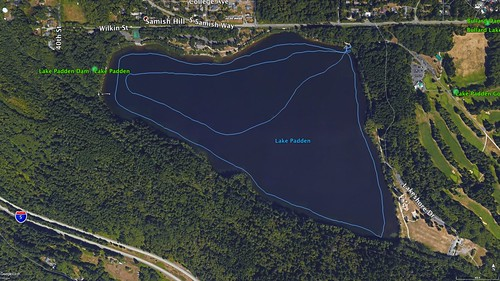 Lake Padden Paddle Route