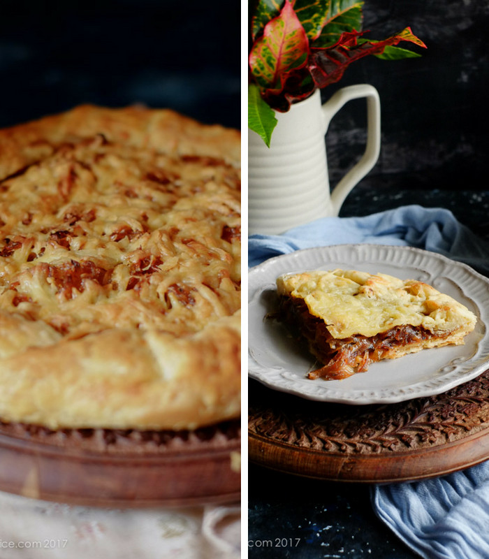 French Onion Tart on notjustspice.com
