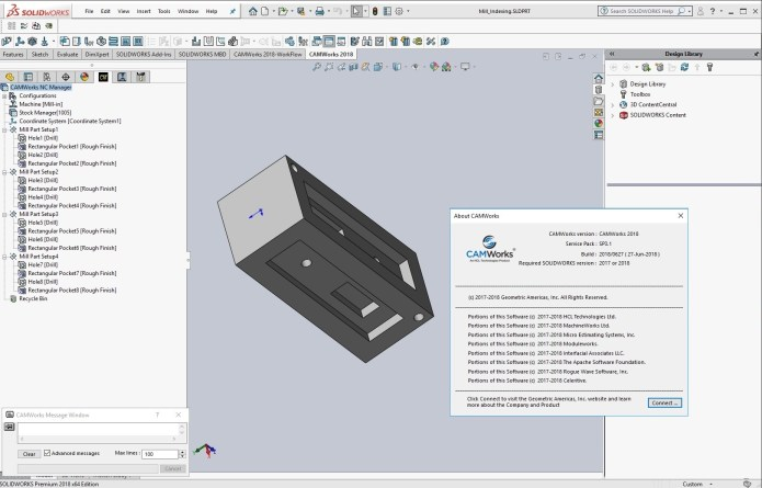 Working with CAMWorks 2018 SP3.1 for Solidworks 2017-2018 full