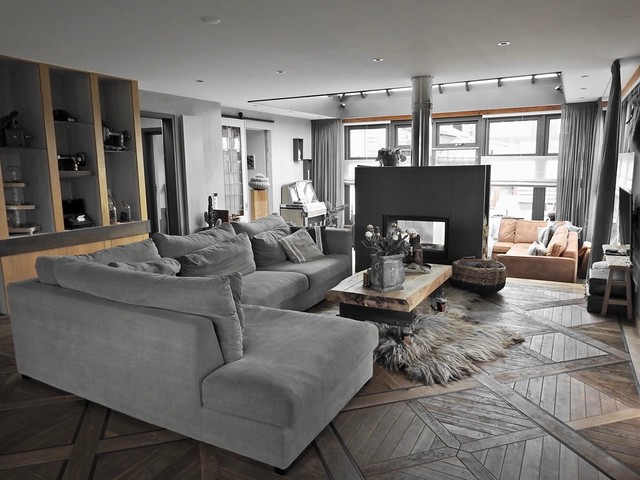 Eikenvloer woonkamer landelijke stijl