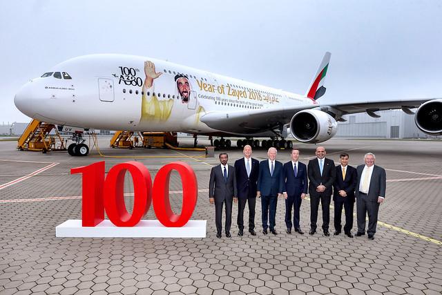100th A380 celebration