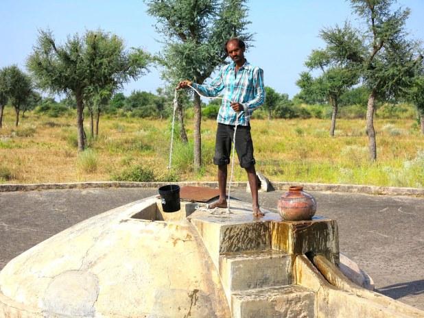 Pozo de agua en el Rajastán