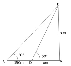 RS Aggarwal Solutions Class 10 Chapter 14 Height and Distance Ex 14a 50