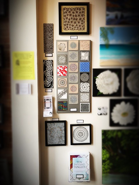 Laurel Storey, CZT gallery wall - Art and Heirloom Shoppe, Chatham, ON