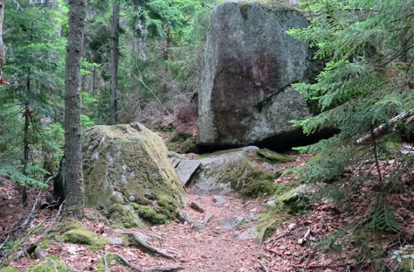 Bigelow Range Trail Boulder