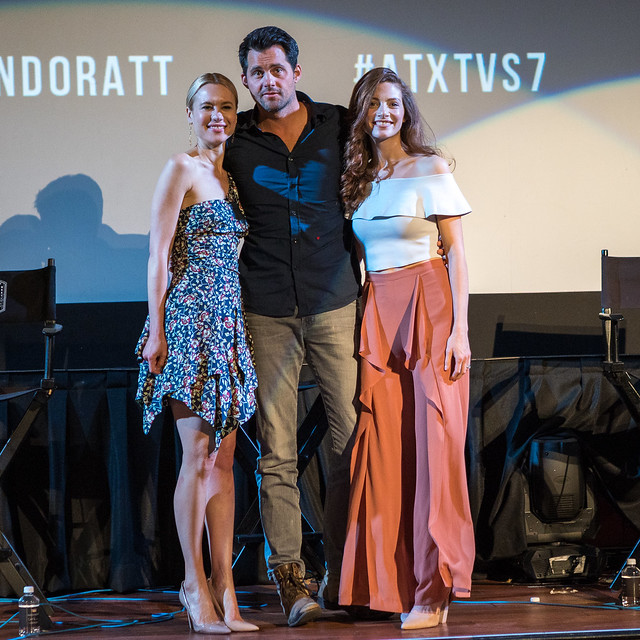 Kristen Hager, Kristoffer Polaha and Katherine Cunningham